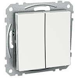 Vipupainike 6+6T/16A/IP21 2X UKJ valkoinen Exxact