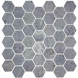 Vuolukivimosaiikki Tulikivi Hexagon hiottu 320x315x10 mm