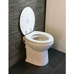 WC-istuin Tecma Prestige 45 silppuripumpulla kansi auki