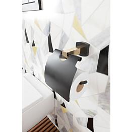 WC-paperiteline Hietakari Melange musta/messinki