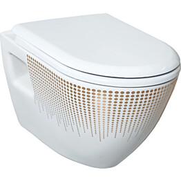 WC-istuin Creavit TP 325 T0, seinämalli, valkoinen kuvioitu, soft-close kansi