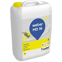 weber.vetonit MD 16 Dispersio Lattiatasoitteiden pohjustusaine 10 l