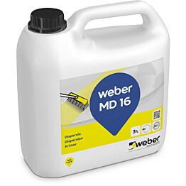 weber.vetonit MD 16 Dispersio Lattiatasoitteiden pohjustusaine 3 l