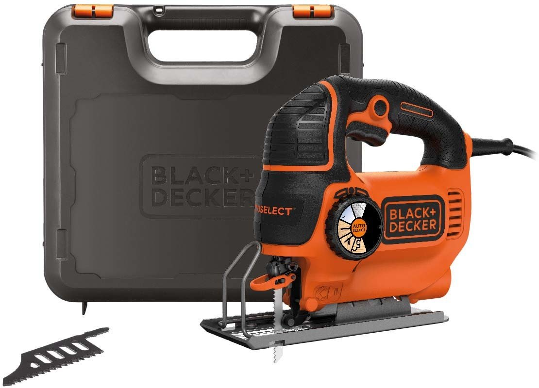 Heiluripistosaha BLACK+DECKER AUTOSELECT® KS901SEK 620 W + teriä +laukku