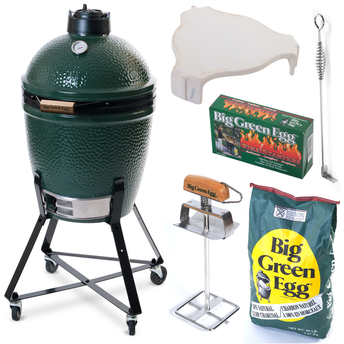 Hiiligrilli Big Green Egg Peruspaketti Medium Plus