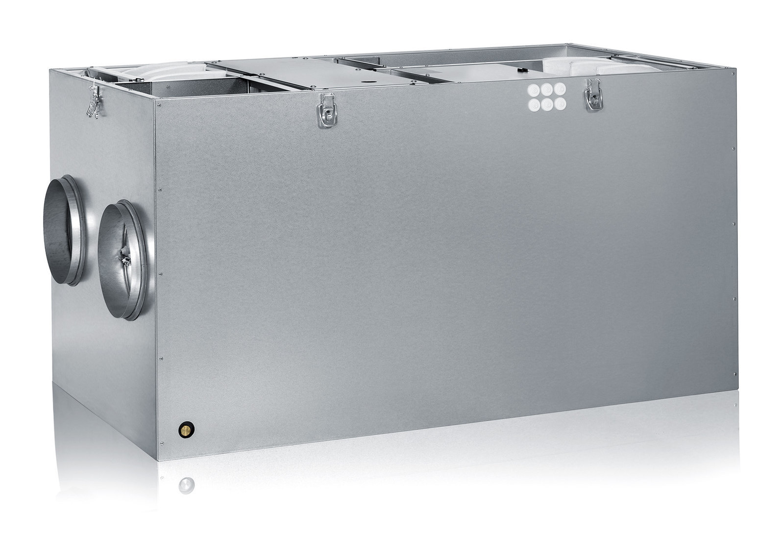 Ilmanvaihtokone Enervent LTR-6 190 eco EC yläpuoli avoinna