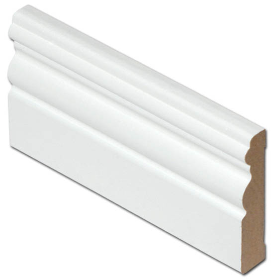 Jalkalista MDF 12x70x3300 valkoinen antiikki