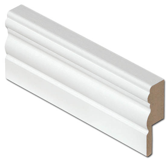 Johtouralista MDF 19x60x2750 valkoinen antiikki