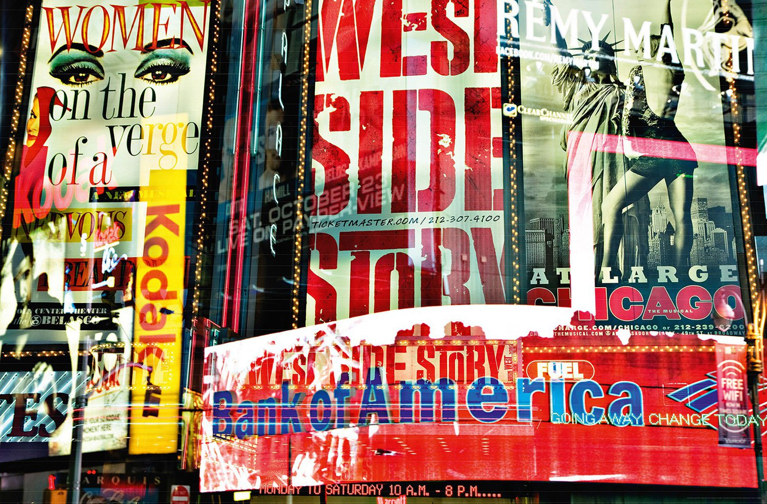 Juliste Giant Art 00642 Times Square Neon Stories 175x115 cm