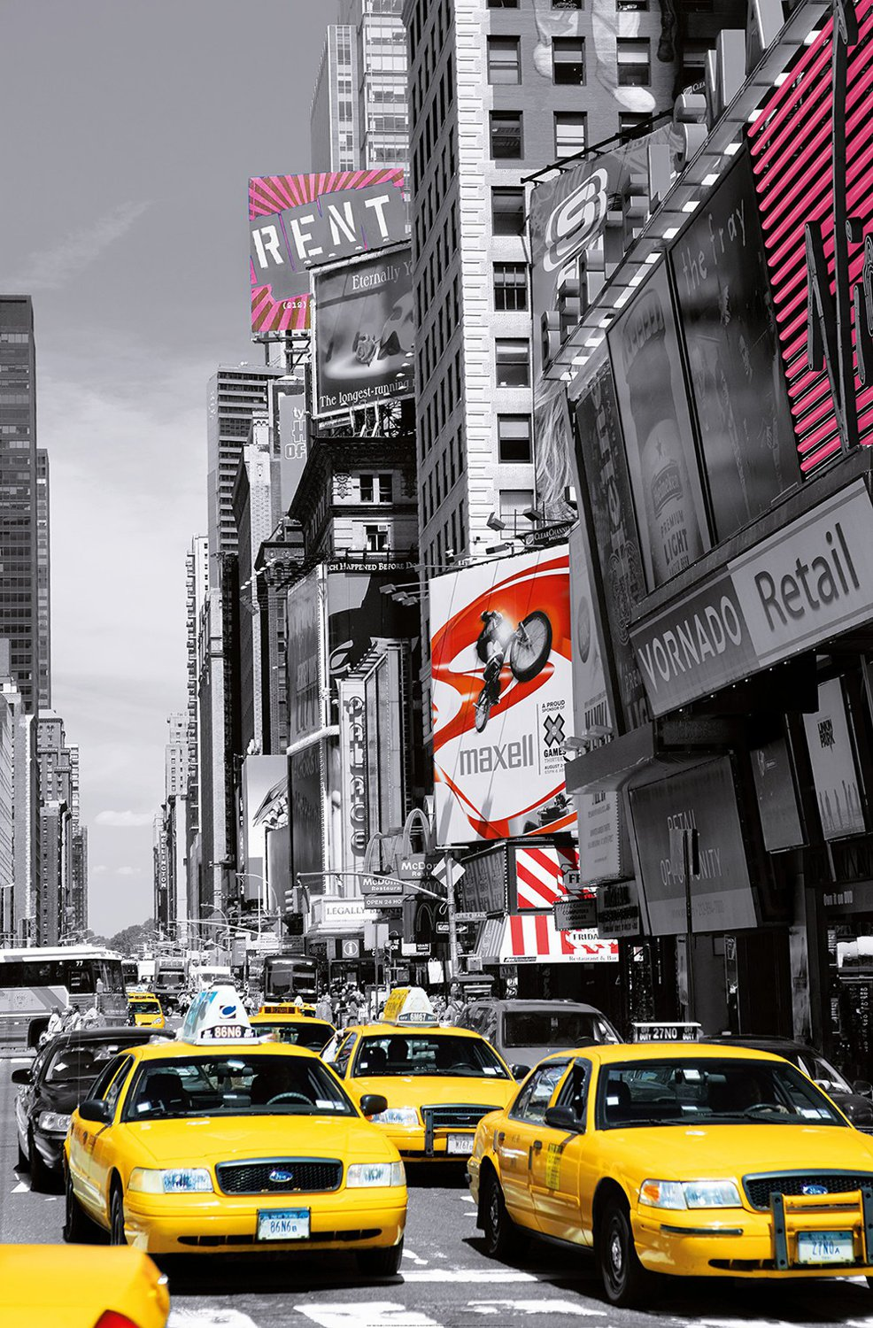Juliste Giant Art 00687 Times Square II 115x175 cm