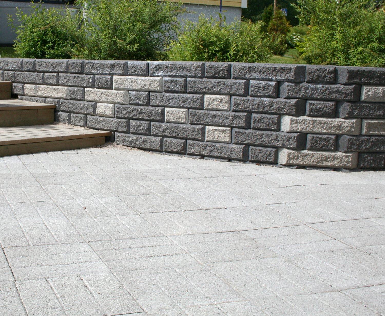 Kakspuolilaatta 300x300x55 mm harmaa  HB Betoni  Taloon com