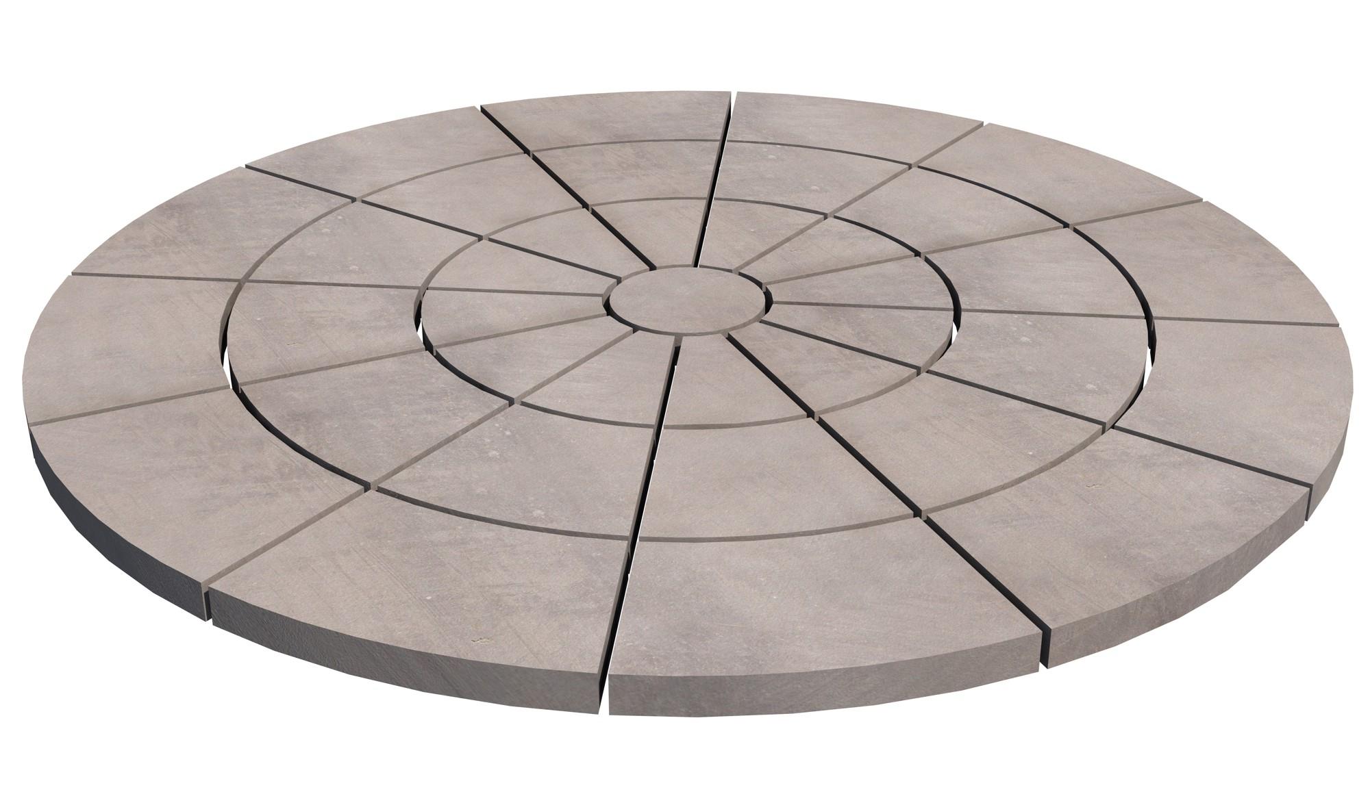 Kehäkivi MIX ympyrä Ø 2840 mm 36 kpl betoni tummanharmaa