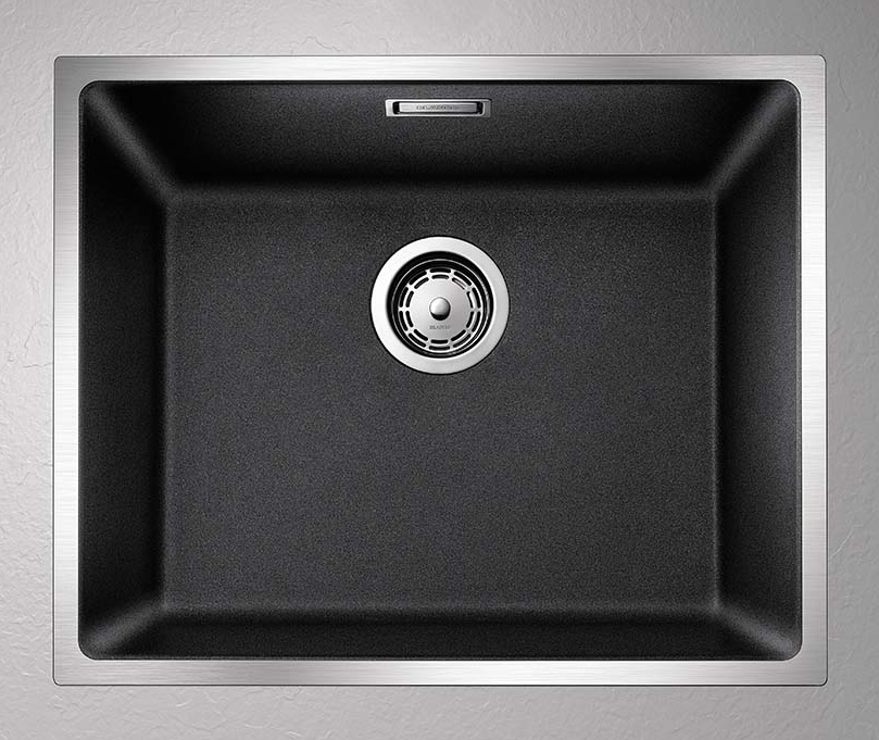 Keittiöallas Blanco Subline 500 IF 543×443 mm Silgranit SteelFrame antrasiitt