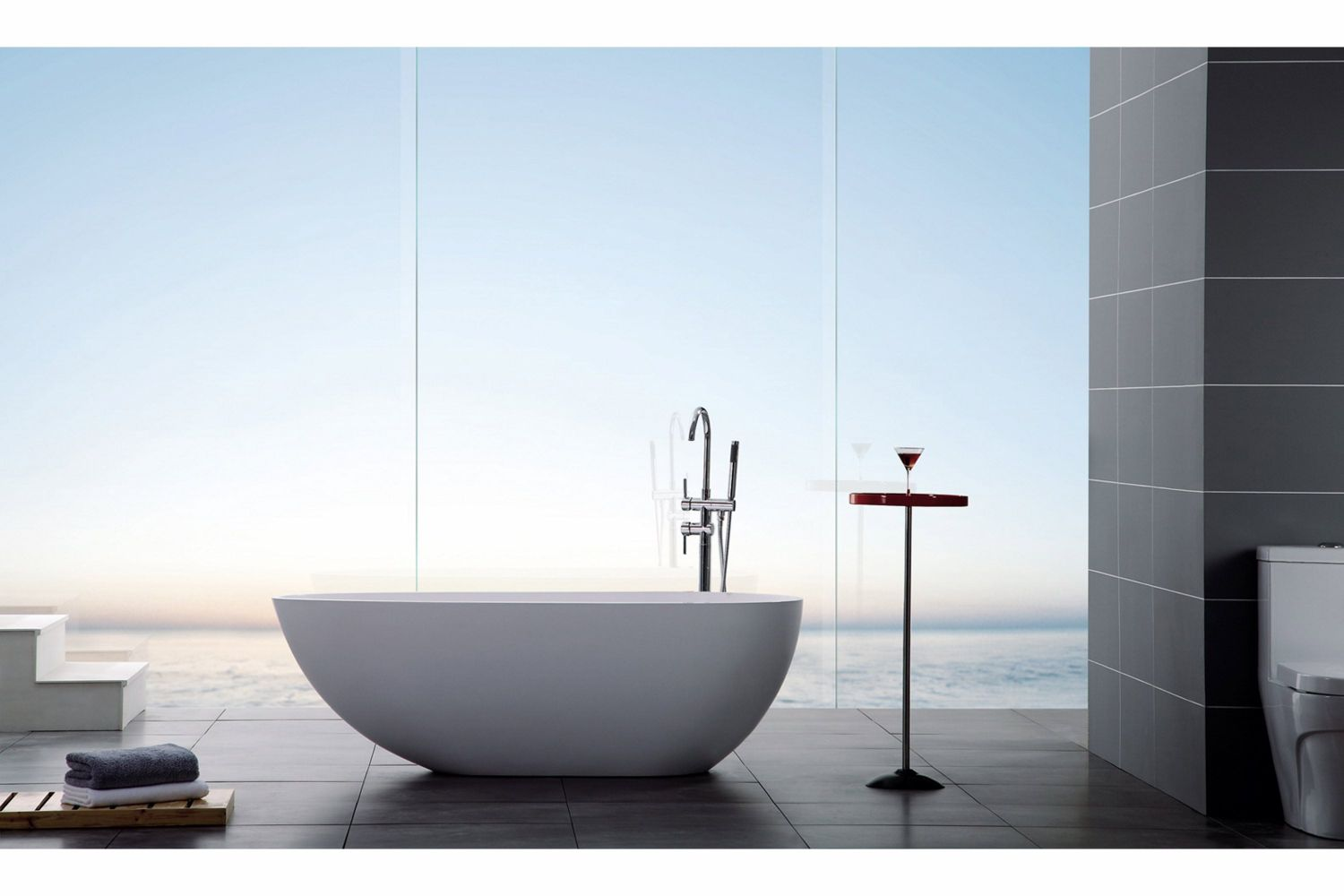 Kylpyamme Bathlife Ideal Design valumarmori 150 cm