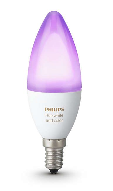 Kynttilälamppu Philips Hue white and color ambiance E14 6W B39