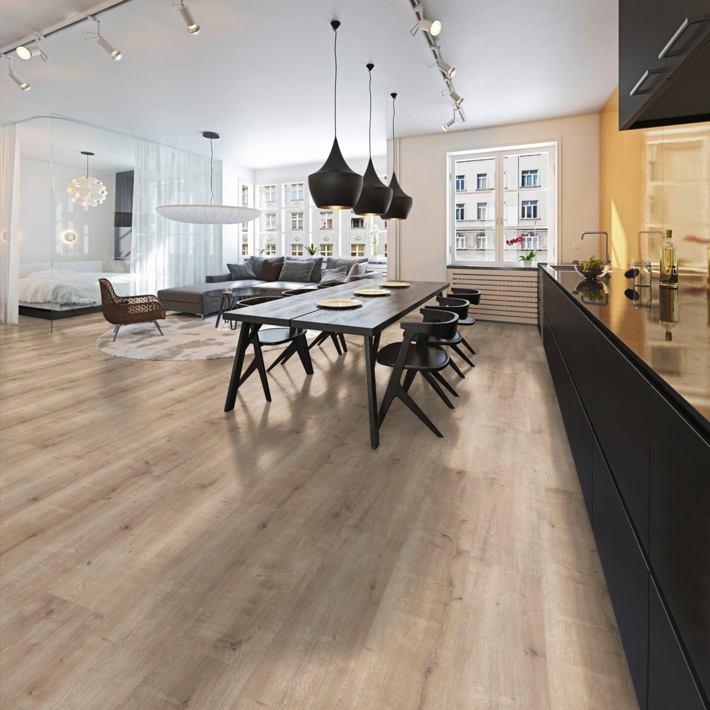 Laminaatti Upofloor Xtreme Oak Garfield, 8 mm