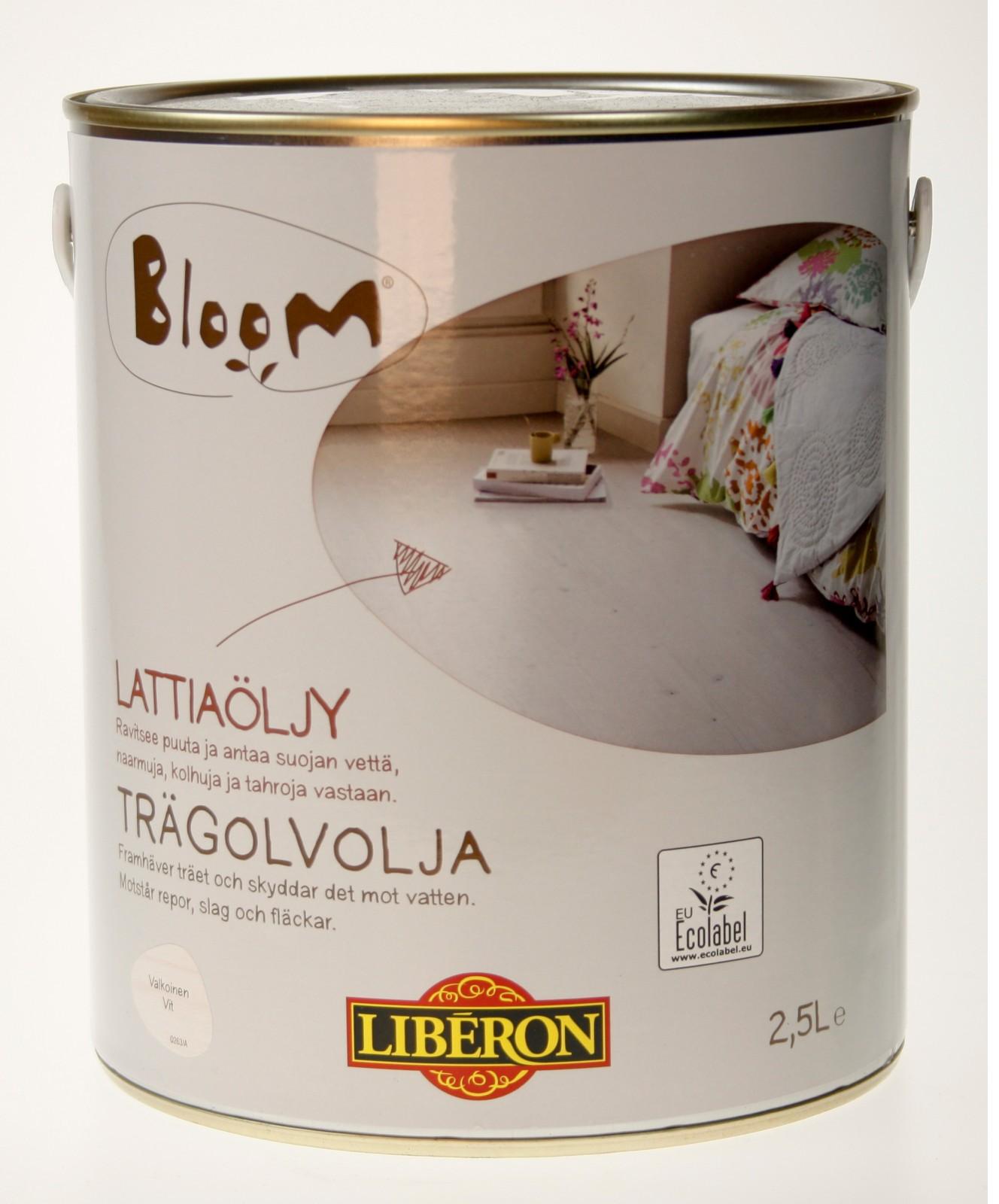 kenkäkauppa alennuskauppa myyntipiste verkossa Lattiaöljy Liberon Bloom 2,5 l valkoinen (066955)
