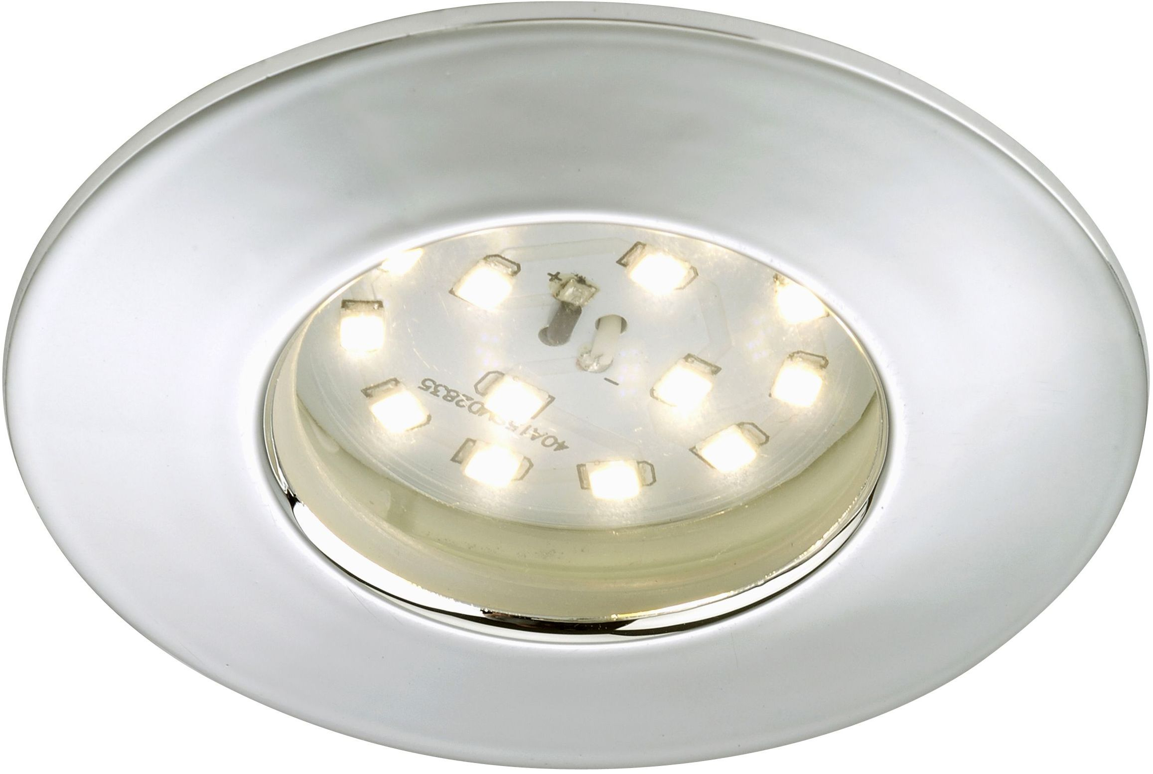 LED-alasvalo Briloner 5W IP 44 kromi