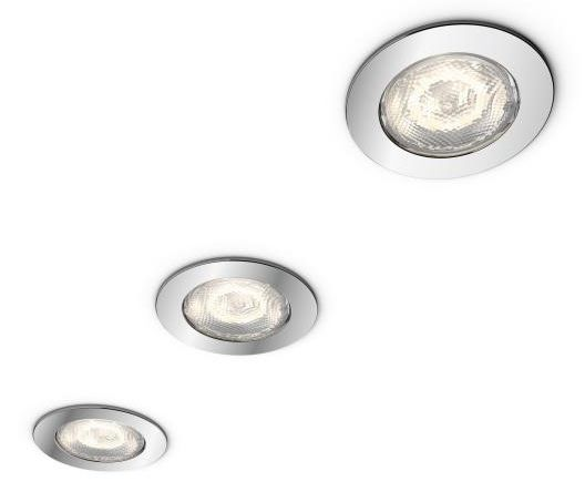 LED-alasvalosarja Philips myBathroom Dreaminess Ø 75x50 mm IP65 3 kpl kromi