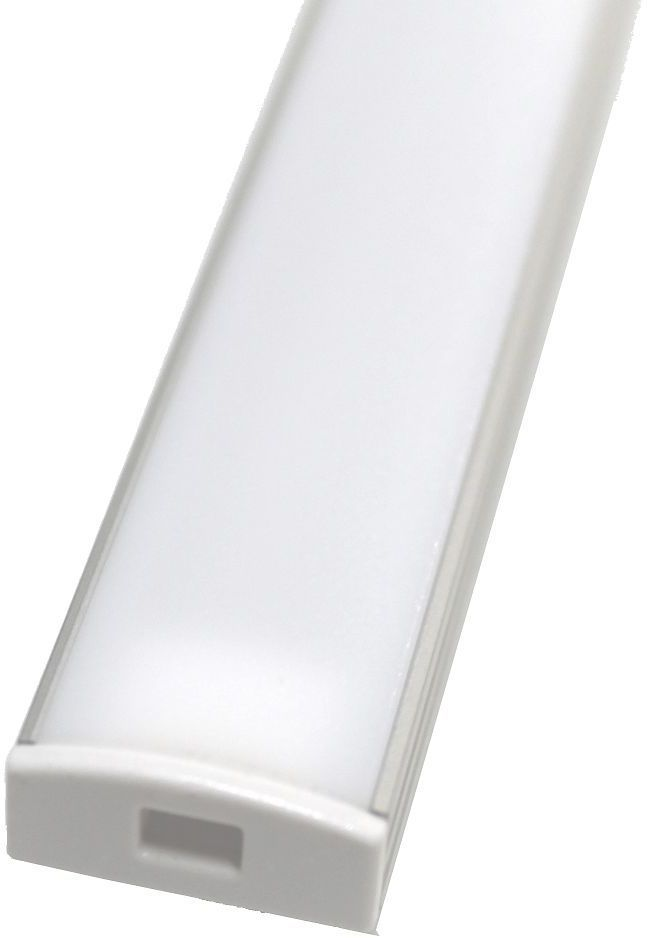 LED-asennuslista Easy Lighting, alumiini, matala, maitolasi, 1,0m