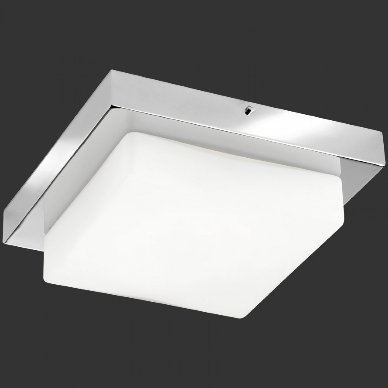 LED-kattovalaisin H2O 6806 260x260x86 mm IP44 kromi/opaalilasi