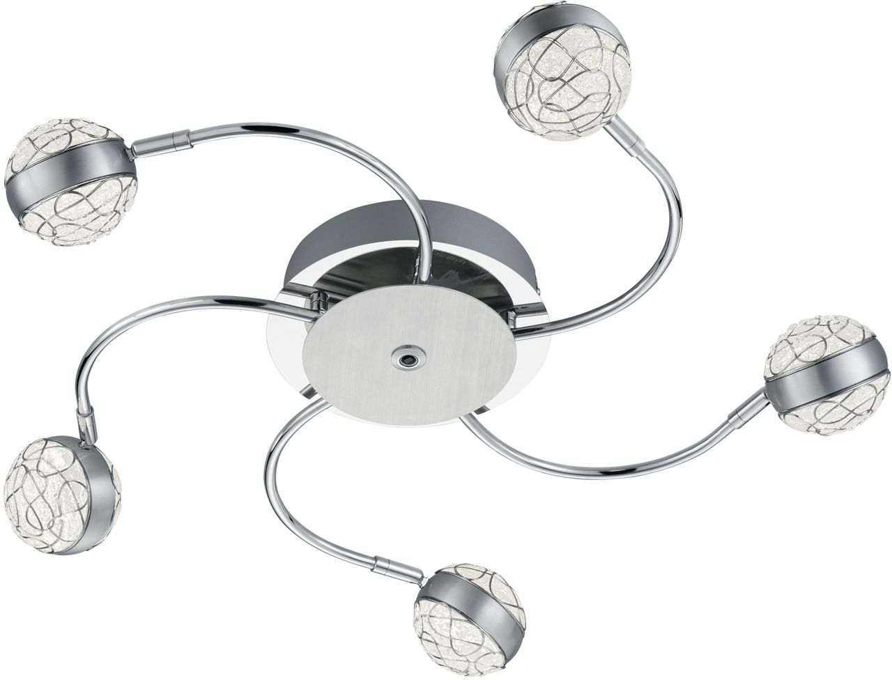LED-kattovalaisin Trio Portos Ø 650x95 mm kromi