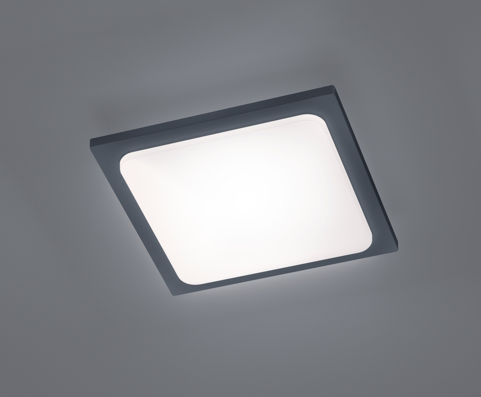 LED-kattovalaisin Trave 250x250x50 mm antrasiitti