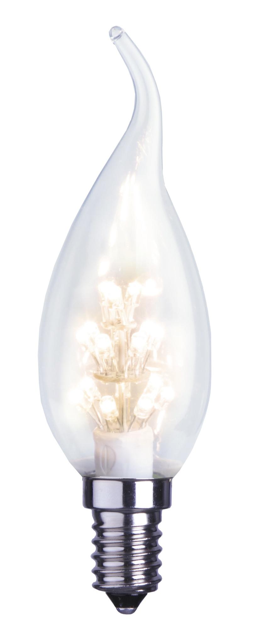 LED-kynttilälamppu Decoration LED 337-56 Ø 35x114 mm E14 kirkas romance 0,9W 2600K 55lm
