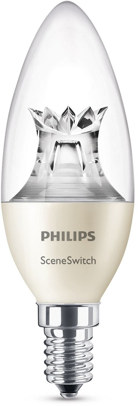 LED-lamppu Philips SceneSwitch 5,5W (40W) B38 E14