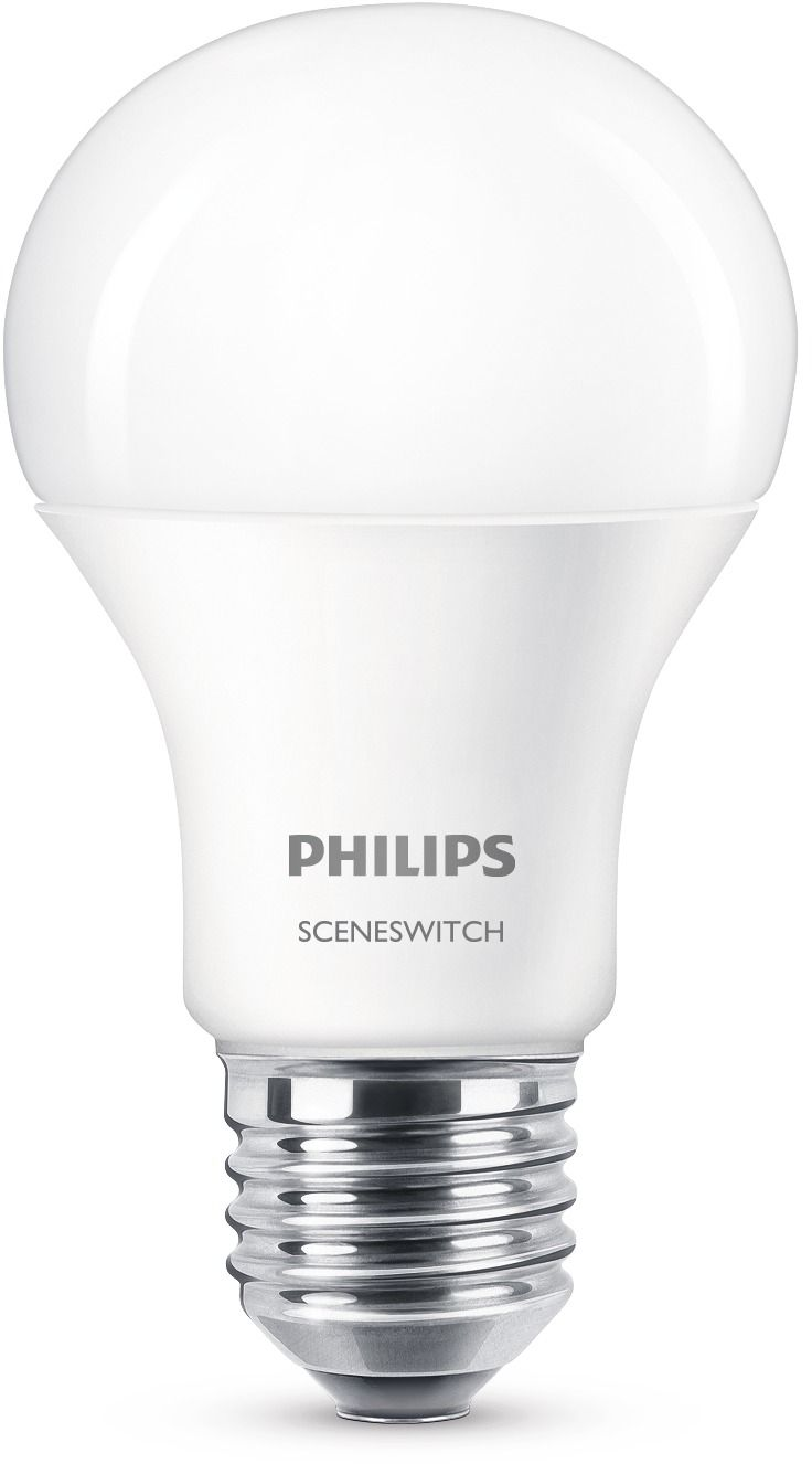 LED-lamppu Philips SceneSwitch 9,5W (60W) A60 E27