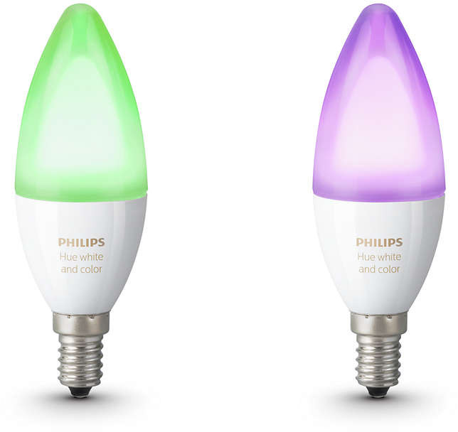 LED-lamppusetti Philips Hue white and color ambiance E14 2 kpl/pak