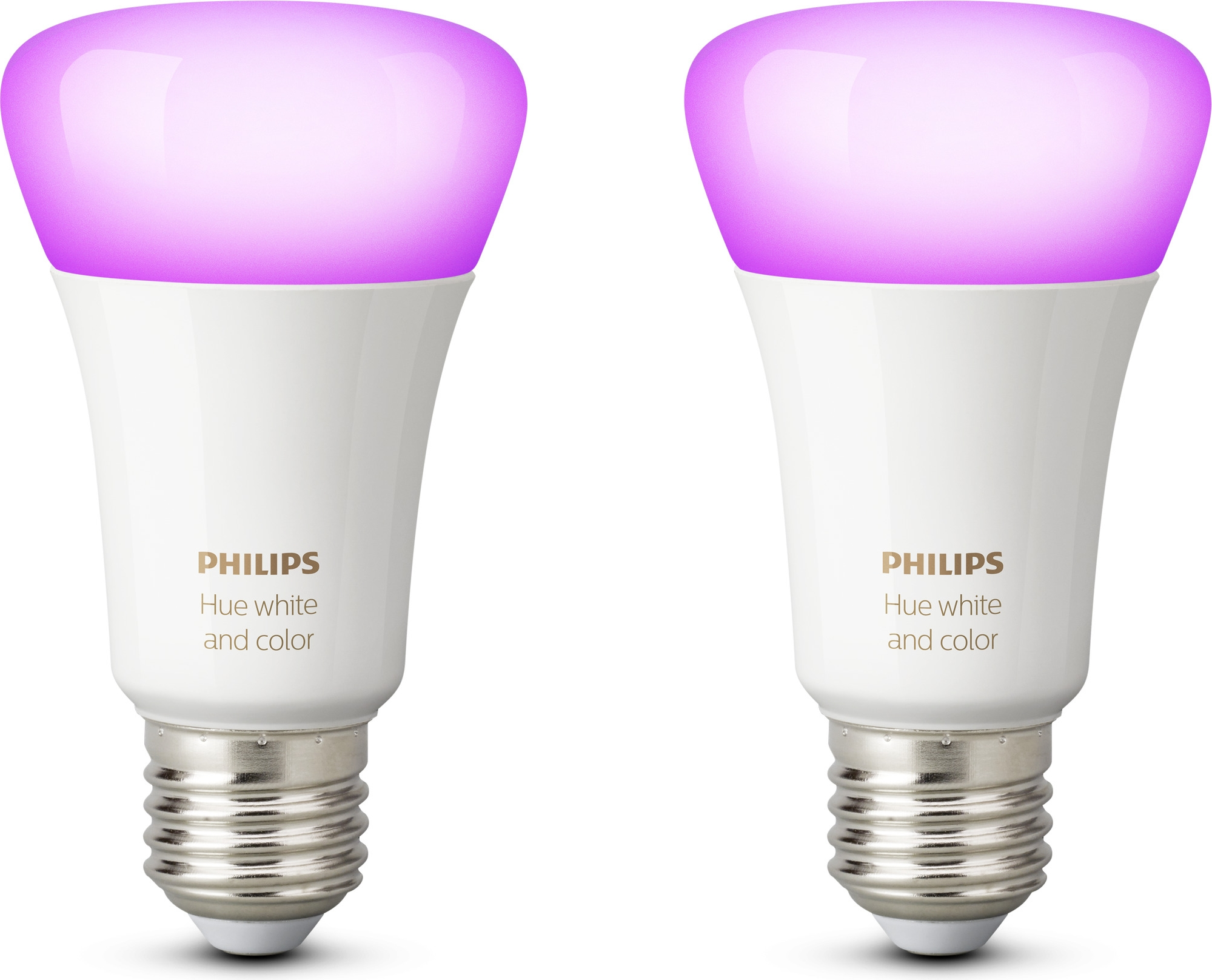 LED-lamppusetti Philips Hue white and color ambiance E27 2 kpl rivissä