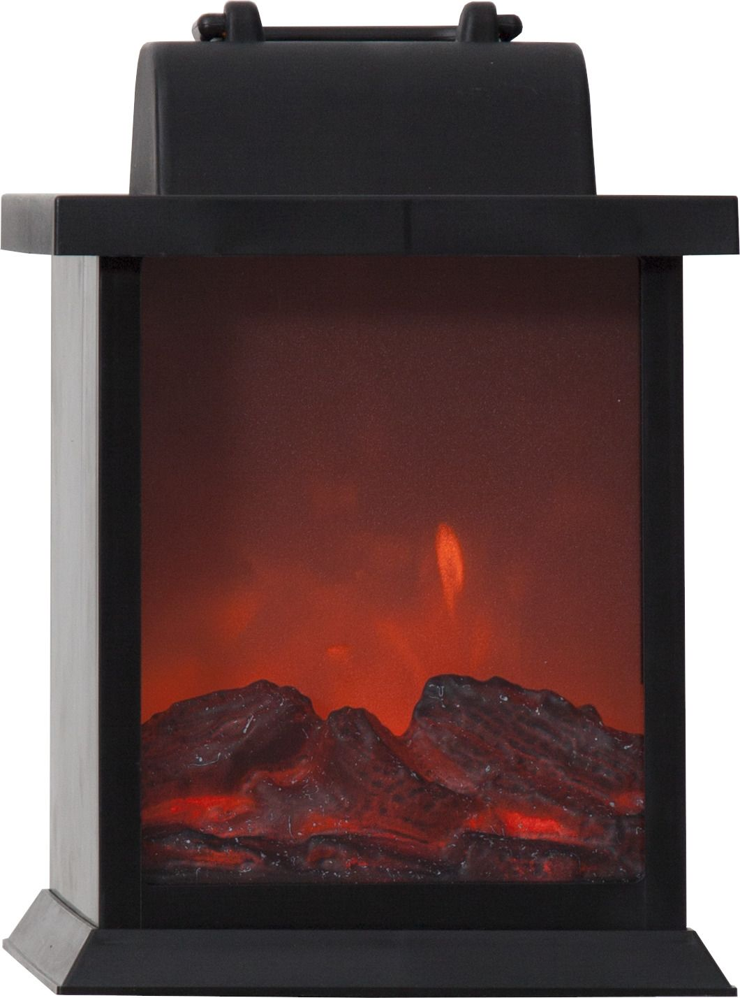 LED-lyhty Star Trading Fireplace 21 cm musta