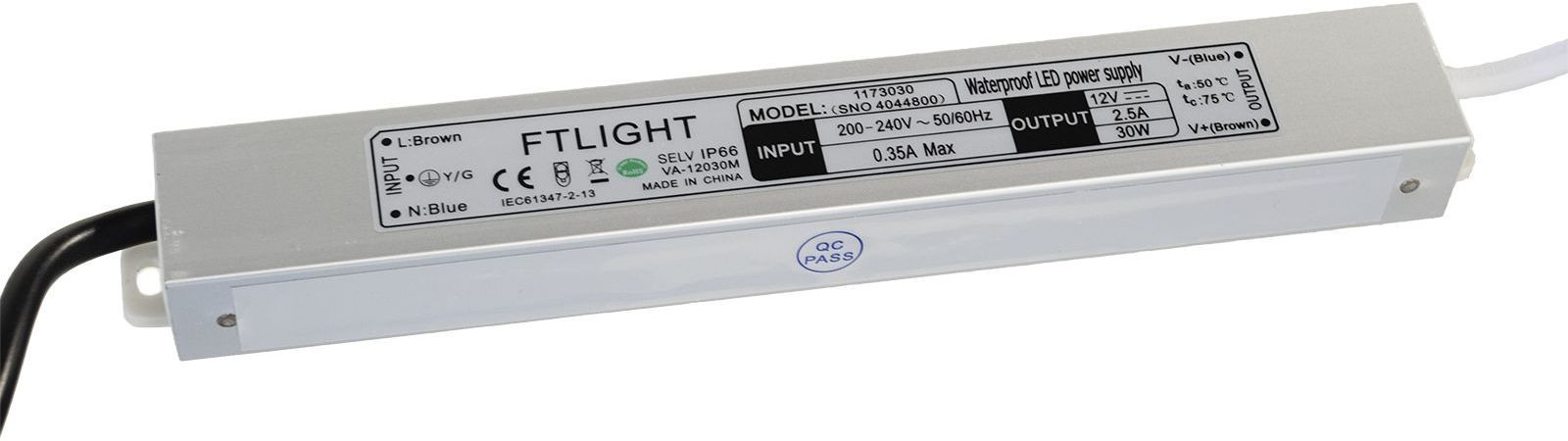 LED-muuntaja FTLight 24V, 30W, IP66