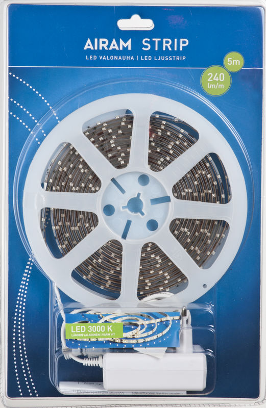 LED nauha Airam LED Strip 2 8×5000 mm 3000K 240 lm m