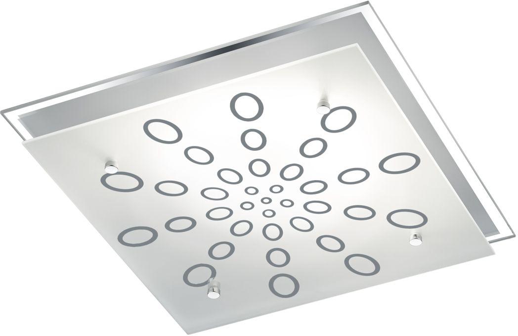 LED-plafondi Trio Dukat 320x75x320 mm kromi