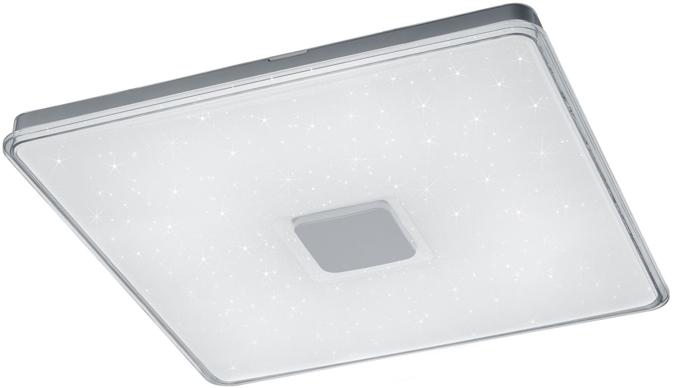 LED-plafondi Trio Kyoto 730x72x730 mm valkoinen starlight
