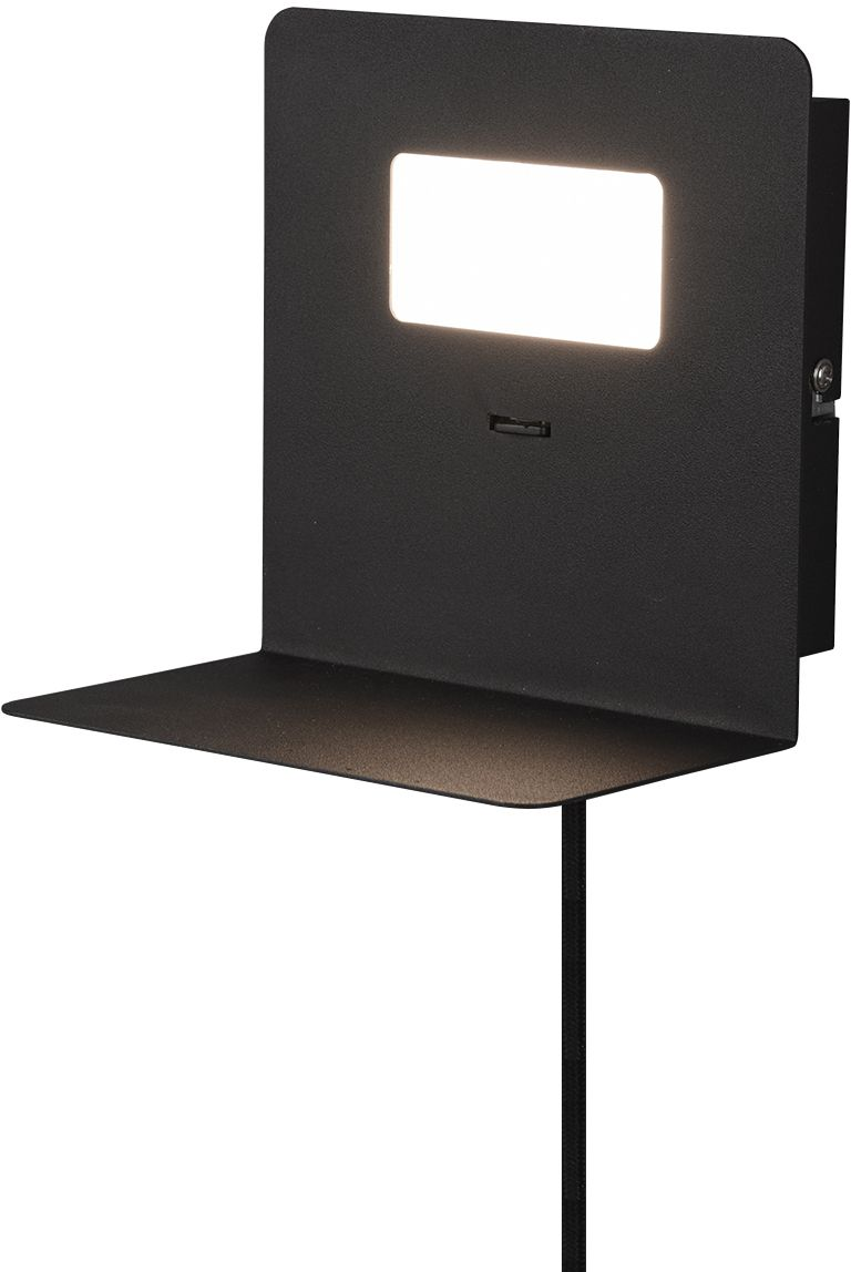 LED-seinävalaisin Trio Aloft, 160x160x140mm, mattamusta