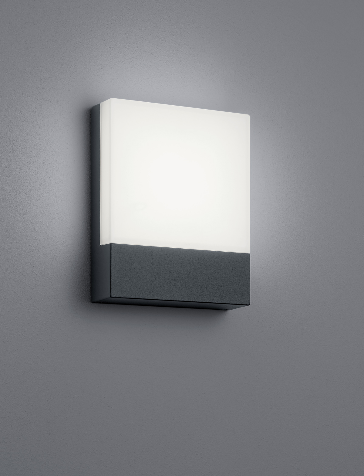 LED-seinävalaisin Trio Pecos 200x160 mm antrasiitti