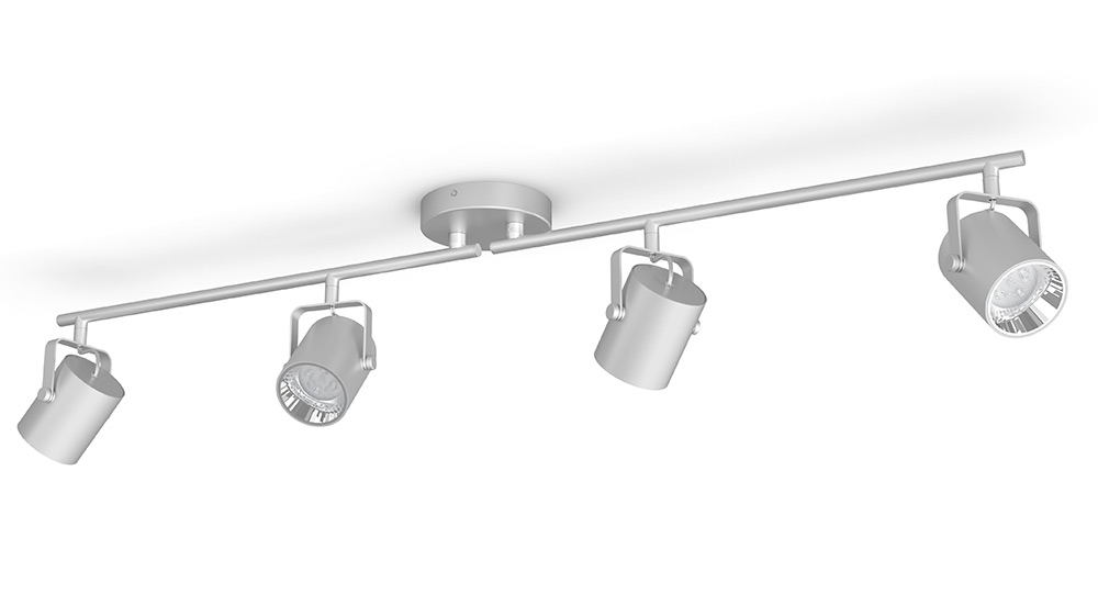 LED-spottivalaisin Philips Byre bar/tube hopea 4x4.3W SELV