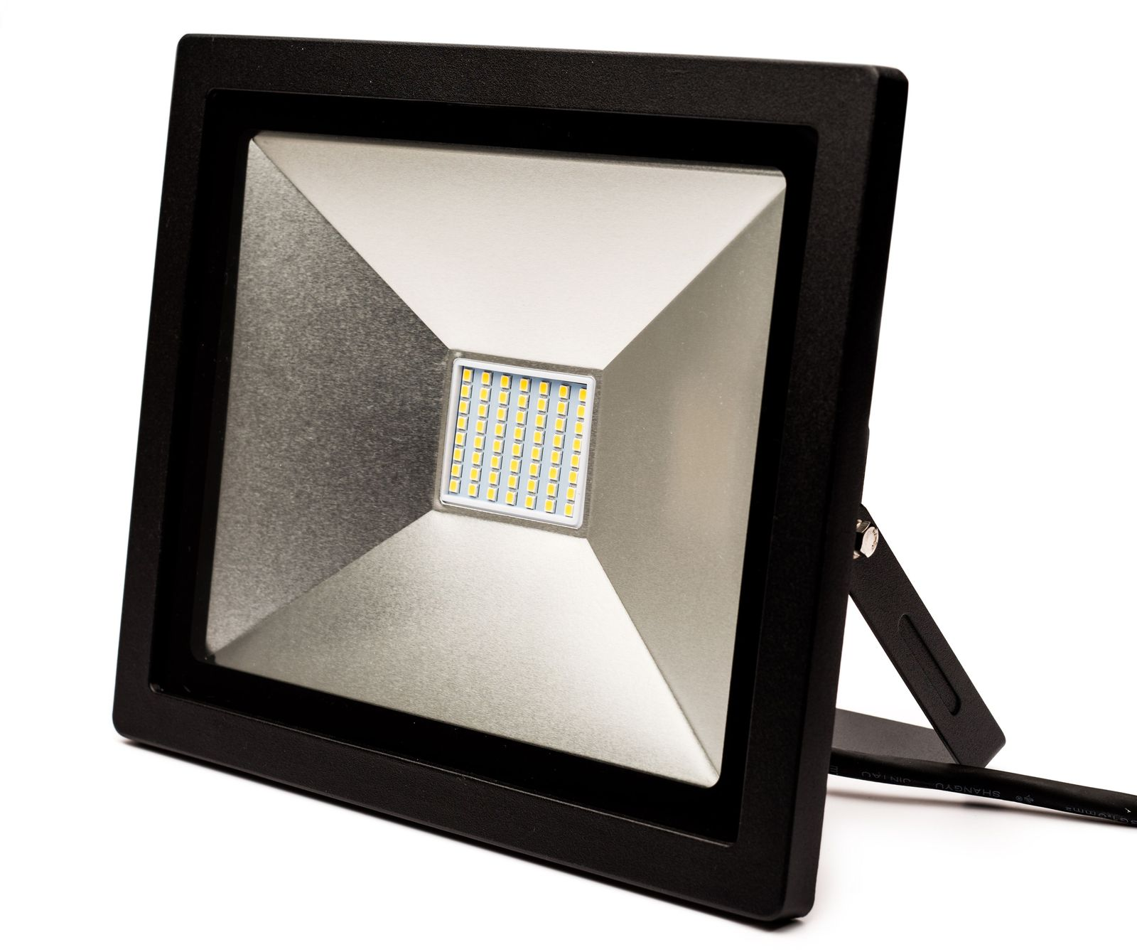 LED-valonheitin FTLight Slim Work, 100W, IP44, 8000lm, 4500K, musta