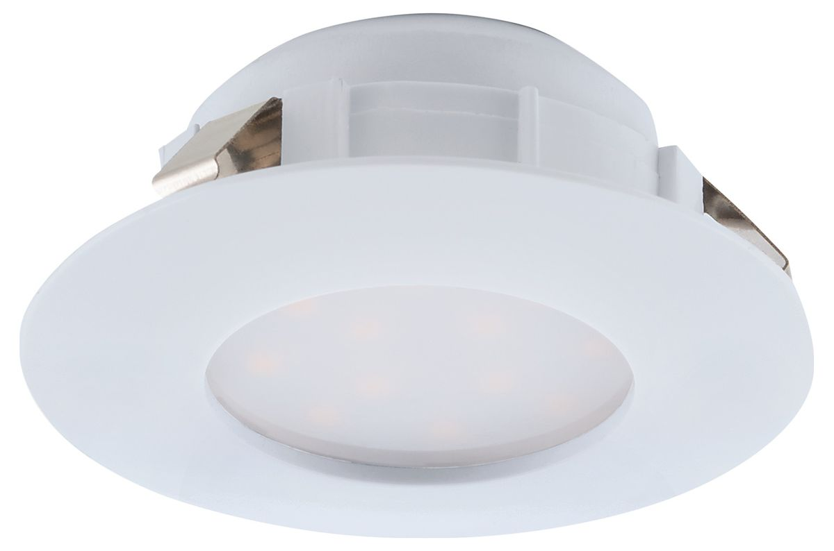 LED-alasvalo Eglo Pineda 6W Ø78mm IP44 valkoinen 95817
