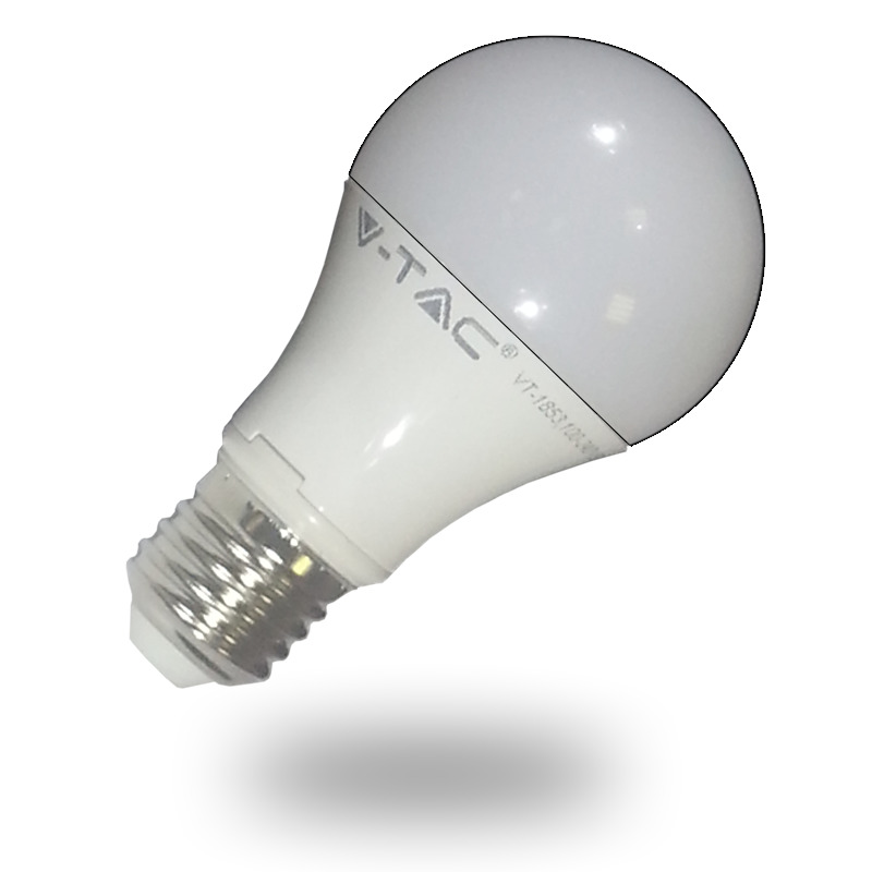 LED-lamppu A60 V-TAC VT-1853 10W 230V 4500K 806lm IP20 Ø 60mm