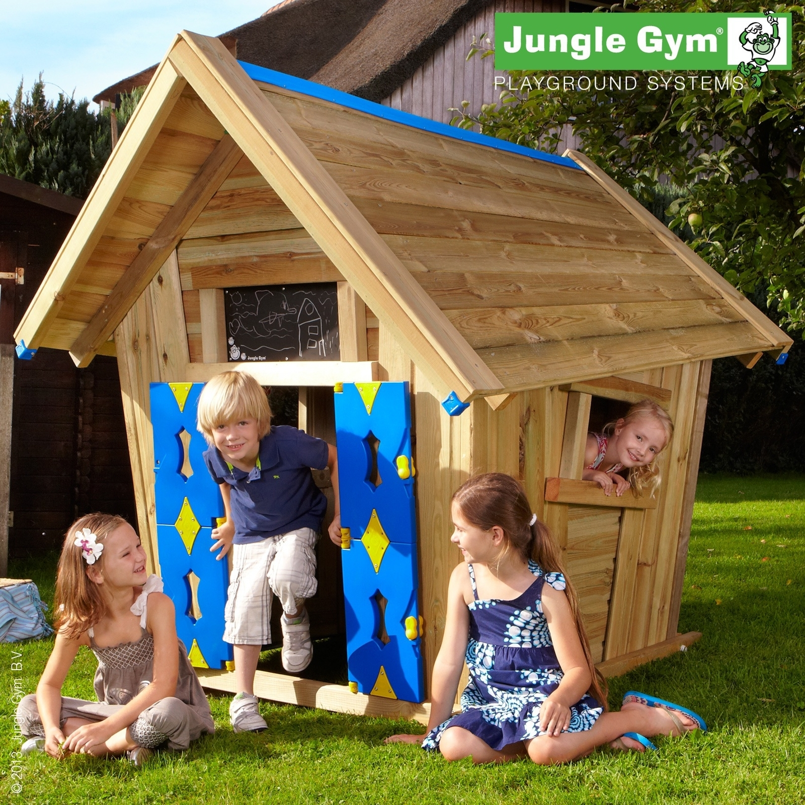 Leikkimökki Jungle Gym Crazy Playhouse