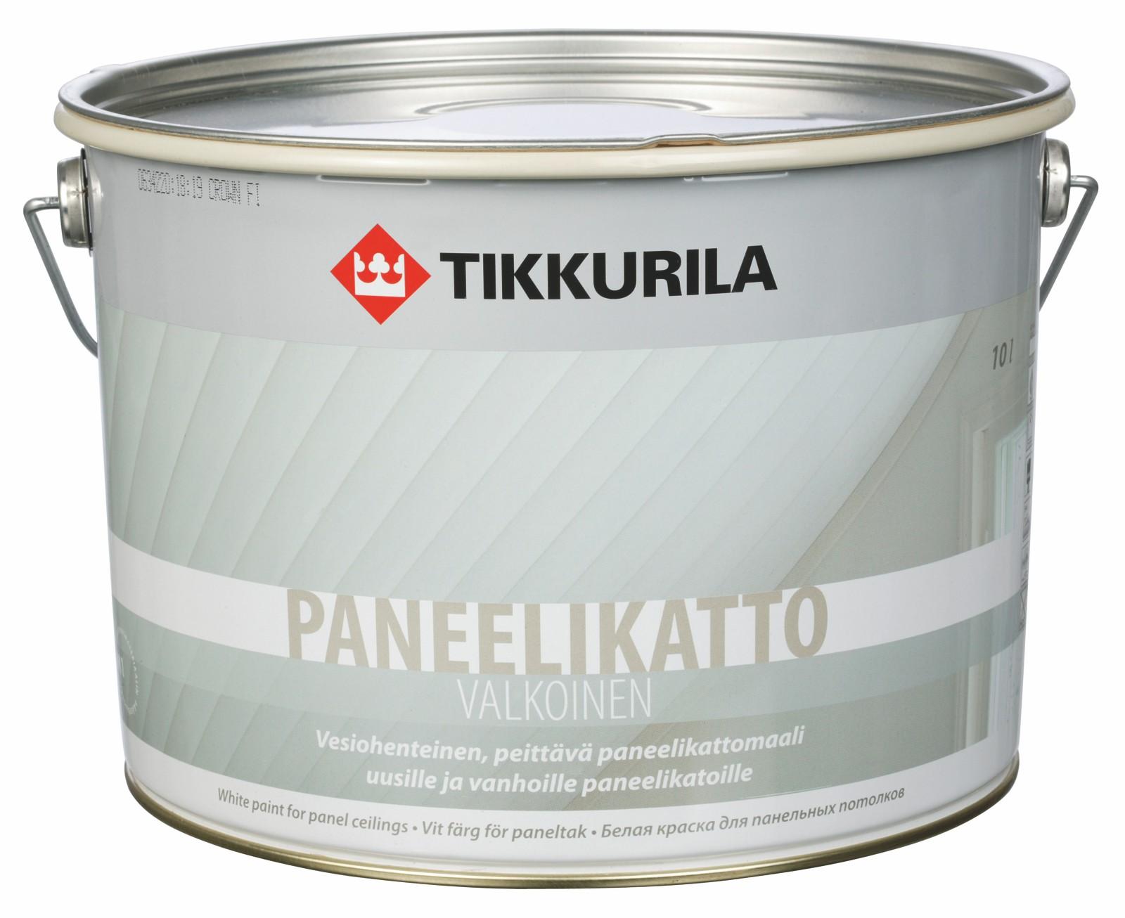 Maali Tikkurila Paneelikatto Valkoinen 10 l