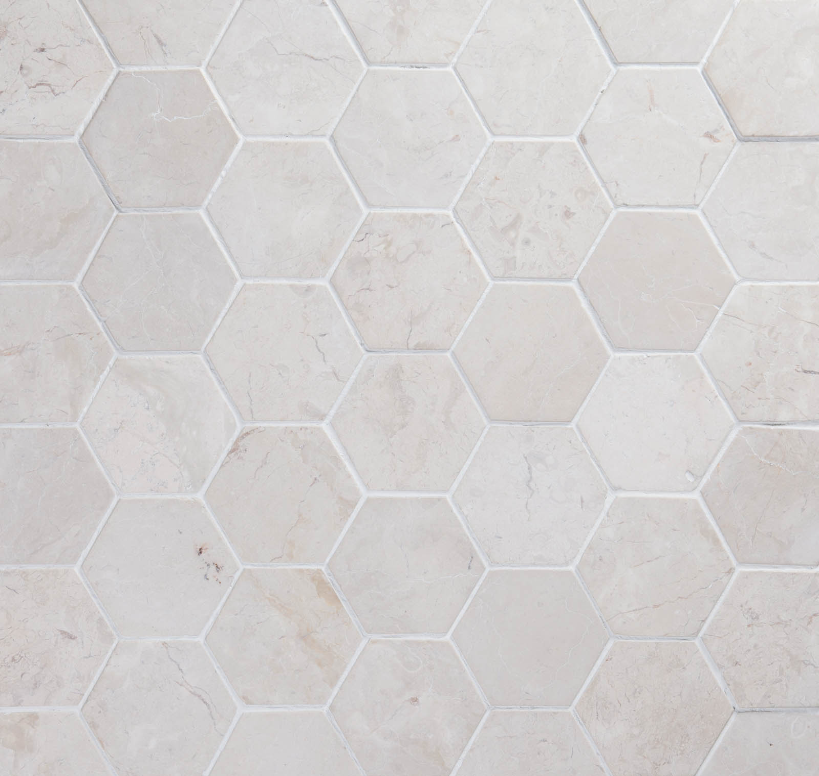 Marmorilaatta Qualitystone Hexagon White 100 x 100 mm