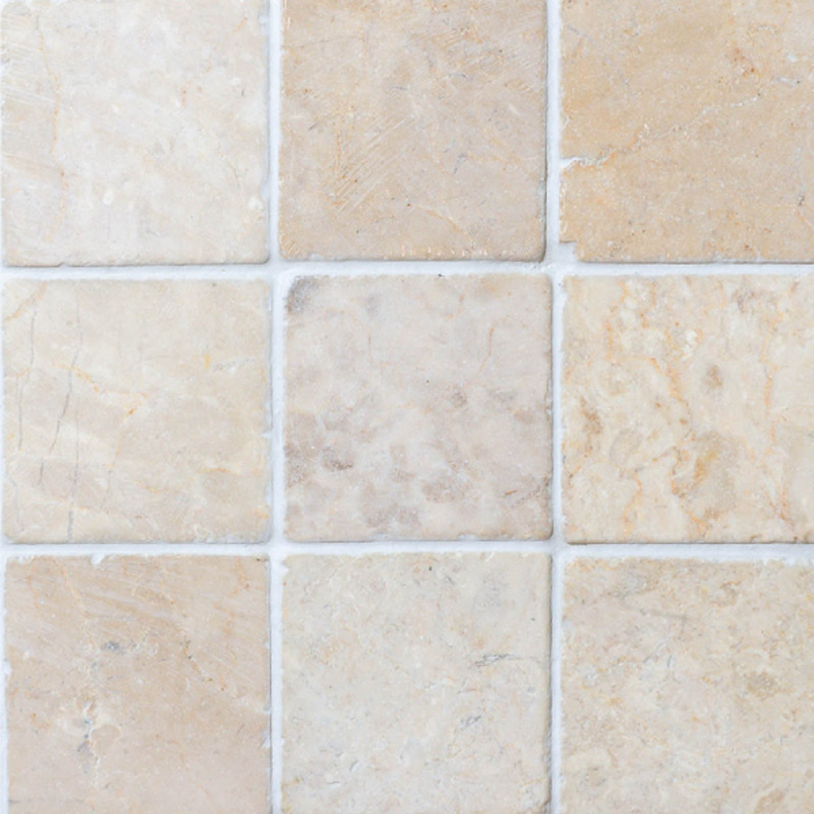Marmorilaatta Qualitystone Square White 100 x 100 mm