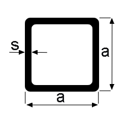 Neliöputki ruostumaton 50x50x3,00 mm 1.4301 kevyesti harjattu pituus 6 m