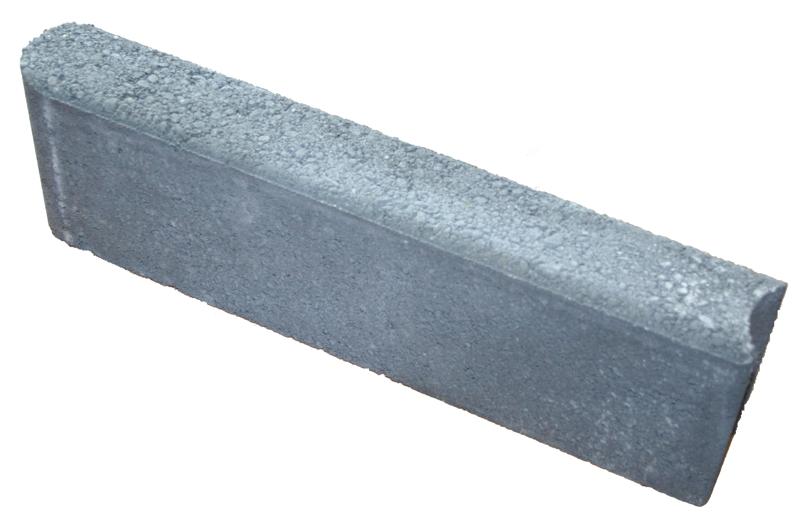 Nurmikonreunakivi 400x60x120 mm harmaa  HB Betoni