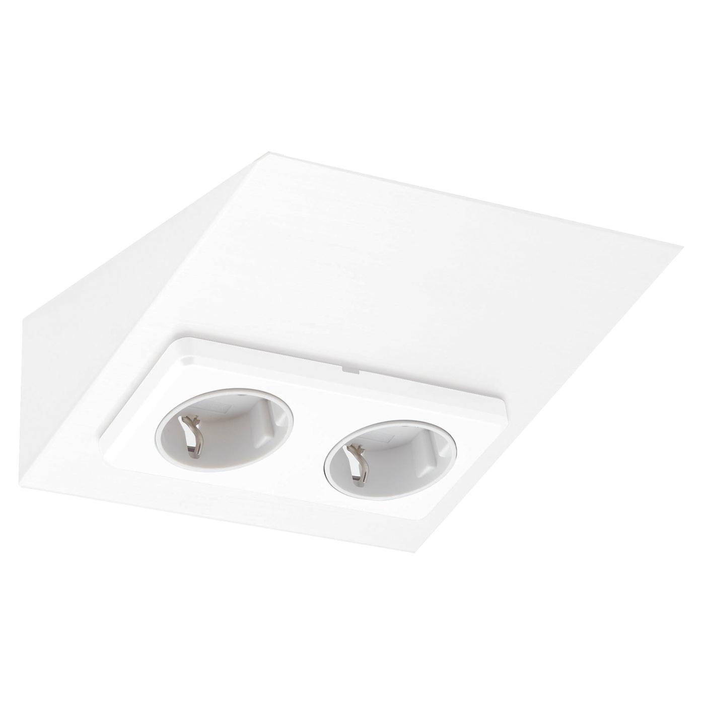 Pistorasia Limente Mini 2 16 A 230 V IP20 150×164 mm 2 osainen valkoinen  Ta